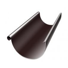 Желоб полукруглый Grand Line, 125мм, 3м, RAL 8017 коричневый