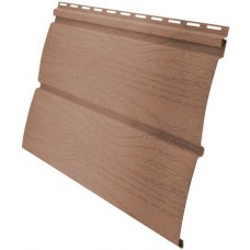 Сайдинг панель виниловый Блок-хаус Grand Line темно-бежевый -3,0