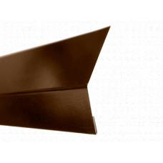 Карнизная планка (капельник) для мягкой кровли Stynergy стальной бархат 0,5сталь 8017 Коричневый