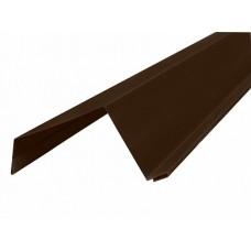 Ветровая широкая п/э 8017 коричн 0,5 сталь Н6 - 2м