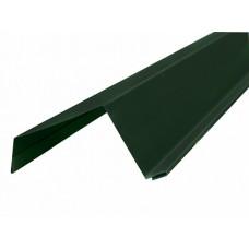 Ветровая планка широкая п/э 0,5 сталь 6005 зеленый Н6 - 2м