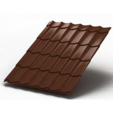 Металлочерепица Classic Stynergy Стальной бархат 8017 коричневый 0,5 сталь 1 кв.м