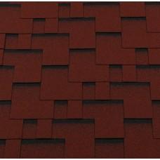 Мягкая кровля Roofshield Premium Модерн Красный с оттенением