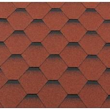 Гибкая черепица Roofshield Premium Стандарт Кирпично- Красный с оттенением
