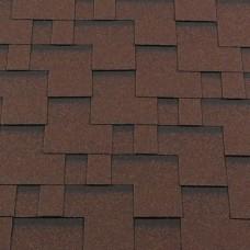 Мягкая кровля RoofShield Premium Модерн Коричневый с оттенением