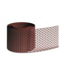 Вентиляционная лента карниза ПВХ D-bork 5м.п ., ширина 10см коричневая