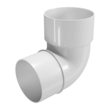 Водосток FineBer Колено D80, 67 градусов Белый