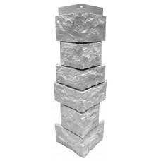 """Угол наружный для фасадной панели Nordside Северный камень """"Белый"""" 0,139х0,463"""