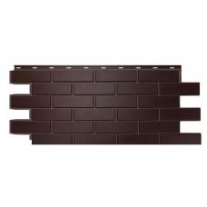 """Фасадная панель Nordside Гладкий кирпич """"Темно-коричневый"""""""