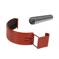 Соединитель желоба в комплекте Аквасистем RR 29 (Красно-коричневый) 90/125