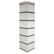 """Угол наружный для фасадной панели Nordside Гладкий кирпич """"Белый"""" 0,119х0,463"""