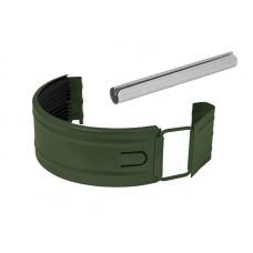 Соединитель желоба в комплекте Аквасистем RR 11 (Тёмно-зелёный) 90/125