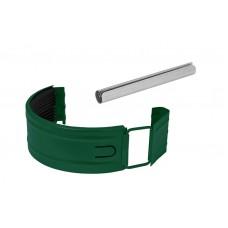 Соединитель желоба в комплекте Аквасистем RAL 6005 (Зеленый) 90/125
