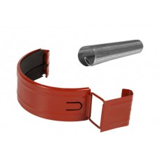 Соединитель желоба в комплекте Аквасистем RR 29 (Красно-коричневый) 100/150