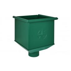 Воронка водосборная (ведро) Аквасистем RAL 6005 (Зеленый мох) 100/150
